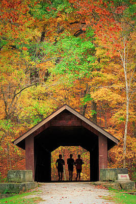 Brush Creek Covered Bridge Art Print by Emmanuel Panagiotakis