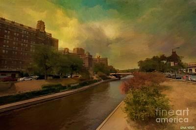 Kansas Oil Painting - Brush Creek Oil Painting Kansas City Missouri by Liane Wright