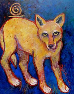 Painting - Brush Wolf Coyote by Carol Suzanne Niebuhr