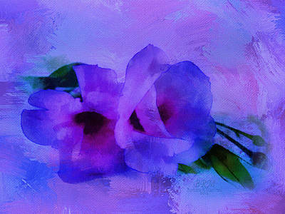 Brushing Flowers Art Print by Barbara R MacPhail