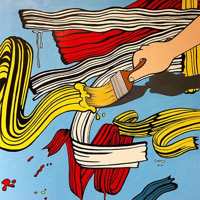 Alejandro Painting - Brushstrokes by Alejandro Iturralde Arquiola