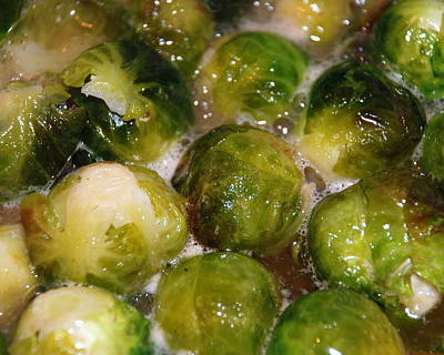Photograph - Brussel Sprouts by Larry Ward