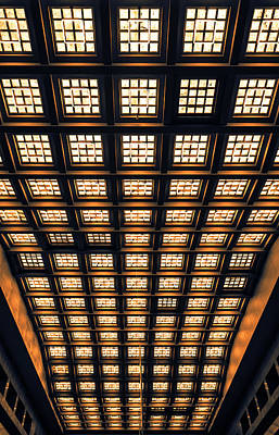 Photograph - Brussels Gare Central Ceiling by Menega Sabidussi
