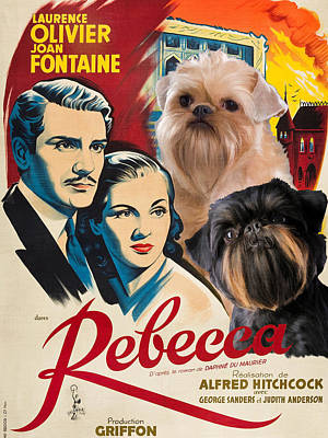 Brussels Griffon Art - Rebecca Movie Poster Original