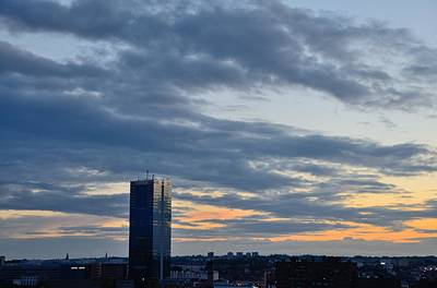 Photograph - Brussels South Tower At Sunset by Steven Richman