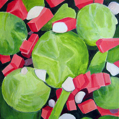 Pepper Painting - Brussels Sprout Salad by Toni Silber-Delerive