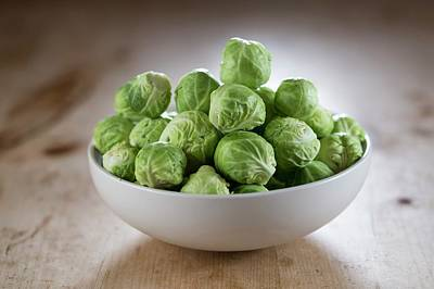 Brussels Sprouts In Bowl Art Print by Aberration Films Ltd
