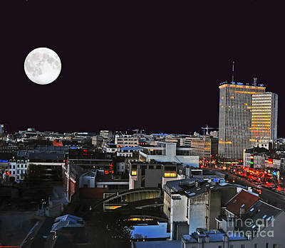 Photograph - Brussels Under Full Moon by Elvis Vaughn