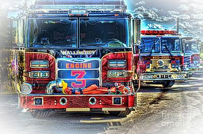 First Responders Wall Art - Photograph - Brute Strength by Arnie Goldstein