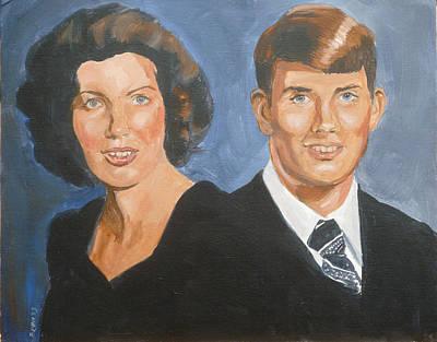 Painting - Bryan And Gina by Bryan Bustard