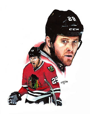 Stanley Cup Painting - Bryan Bickell by Jerry Tibstra