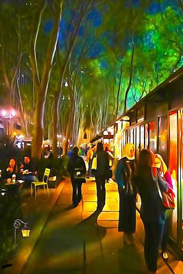 Bryant Park Evening Art Print by Richard Trahan