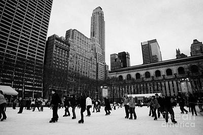 Bryant Park Ice Skating Rink New York City  Art Print by Joe Fox