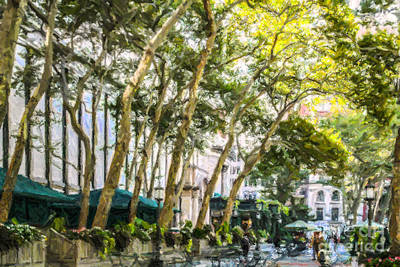 Bryant Park Midtown New York Usa Art Print