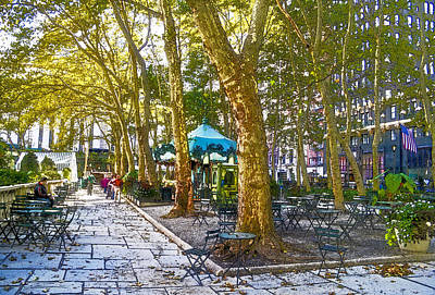 Bryant Park October Art Print