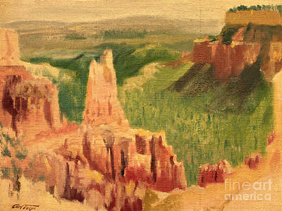 Painting - Bryce Canyon - Grand Staircase 1947 by Art By Tolpo Collection