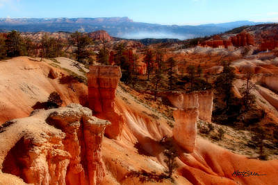 Bryce Canyon Cliff Art Print by Marti Green