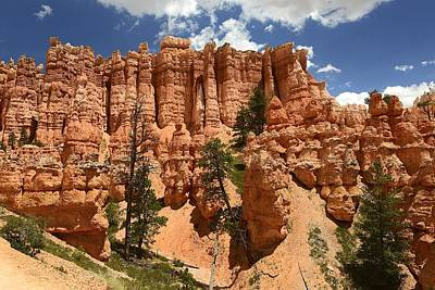 Watercolor Typographic Countries - Bryce Canyon Hoodoo Cliffs by Clyn Robinson