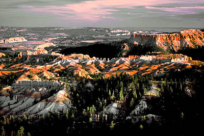 Bryce Canyon In Evening Light Art Print
