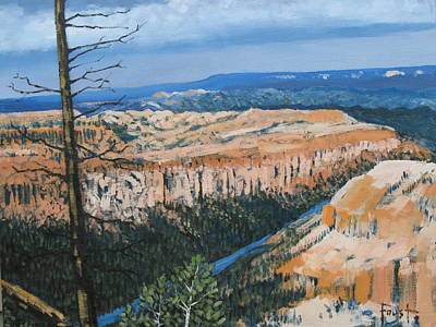 Painting - Bryce Canyon Landscape by Gene Foust