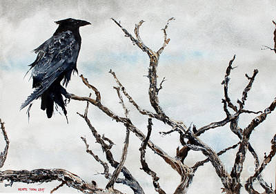 Windblown Painting - Bryce's Raven by Monte Toon