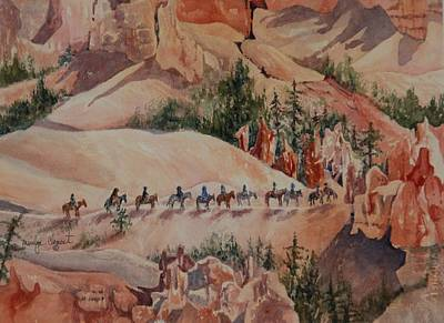 Painting - Bryce Canyon Trail by Marilyn  Clement