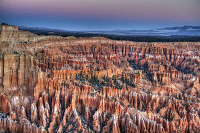 Photograph - Bryce Canyon Utah At Dawn by Pierre Leclerc Photography