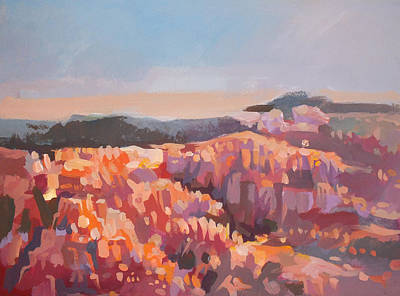 Impressionist Painting - Bryce Canyon - Utah by Filip Mihail