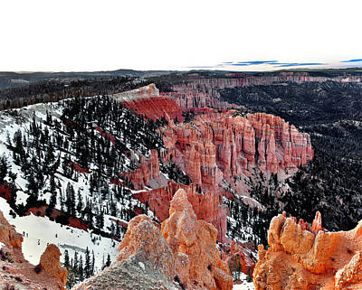 Photograph - Bryce Canyon View by Tomasz Dziubinski