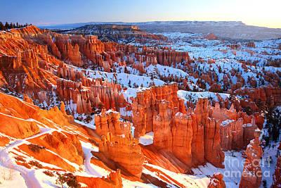 Bryce Canyon Winter Art Print