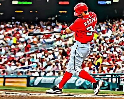 Major League Painting - Bryce Harper Painting by Florian Rodarte