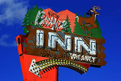 Photograph - Bryce Inn Neon Sign by Daniel Woodrum
