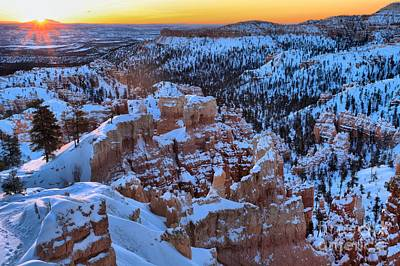 Photograph - Bryce Sunburst by Adam Jewell