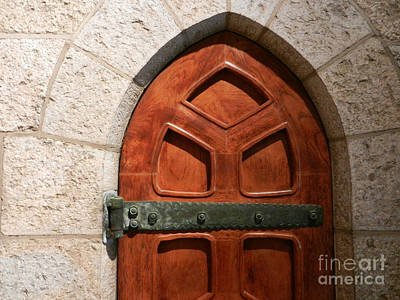 Photograph - Bryn Athyn Cathedral - Inside Door by Val Miller