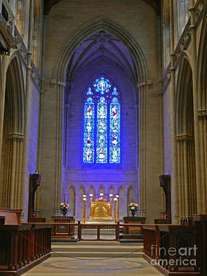 Photograph - Bryn Athyn Cathedral Altar by Val Miller