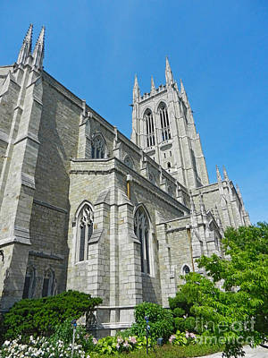 Photograph - Bryn Athyn Cathedral In Spring by Val Miller