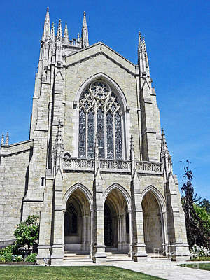 Photograph - Bryn Athyn Cathedral Main Entrance by Val Miller