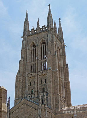 Photograph - Bryn Athyn Cathedral Main Tower by Val Miller