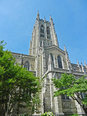 Photograph - Bryn Athyn Cathedral Side View by Val Miller