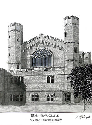 Drawing - Bryn Mawr College by Frederic Kohli