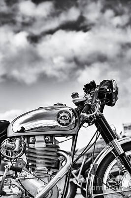 Photograph - Bsa Rocket Gold Star Monochrome by Tim Gainey