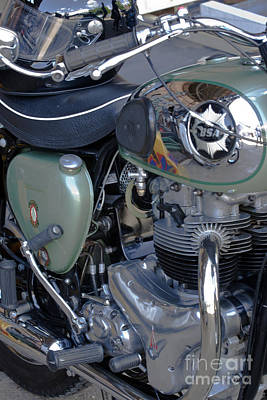 Photograph - Bsa Motorcycle by Terri Waters