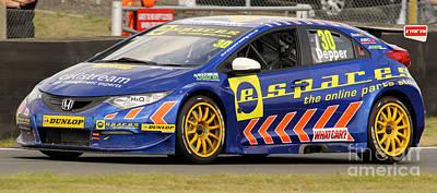 Photograph - Btcc - Honda by David Warrington
