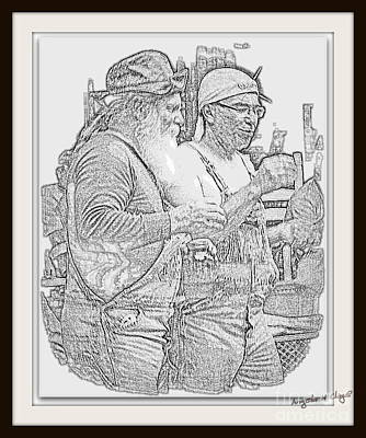 Digital Art - Bubba And Bubba By Angela Clay by Angelia Hodges Clay