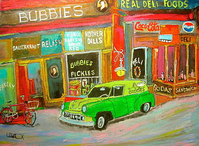 Chevrolet Sedan Delivery Painting - Bubbies Special Delivery by Michael Litvack