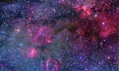 155 Photograph - Bubble & Cave Nebula Mosaic by Alan Dyer
