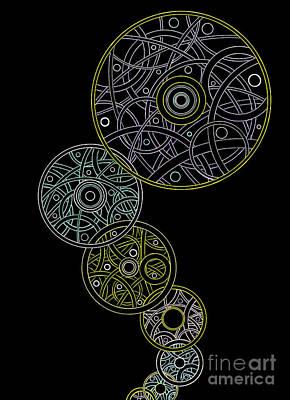 Steampunk Drawings - Bubble Bop by Amy Nelson