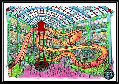 Roller Coaster Drawing - Bubble Casino by Radical Bubble Studios
