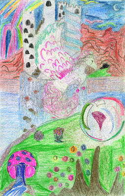 Childrens Art Drawing - Bubble Cove by Kd Neeley