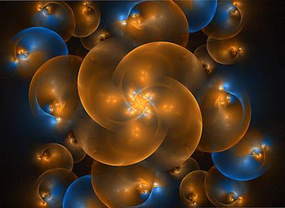 Digital Art - Bubble Curls by Sandy Keeton